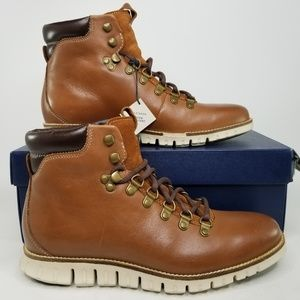 Cole Haan ZeroGrand Chukka Boots 7.5 Brown White